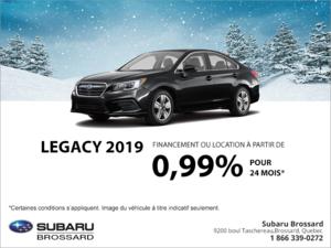 Procurez-vous la Legacy 2019!