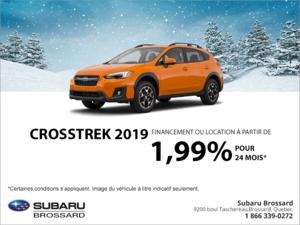 Procurez-vous le Crosstrek 2019!
