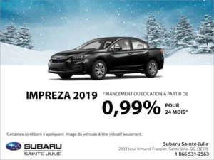 Procurez-vous la Impreza 2019 4 portes!