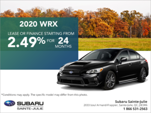 Get the 2020 WRX today!