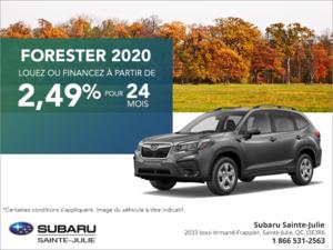 Procurez-vous le Subaru Forester 2020!