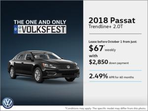 Get the 2018 Passat Today!