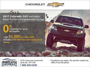 Get the 2017 Chevrolet Colorado Today!