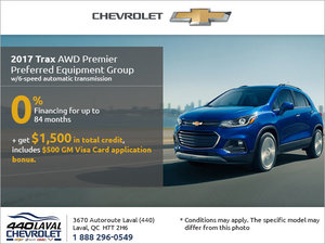 Get the 2017 Chevrolet Trax Today!