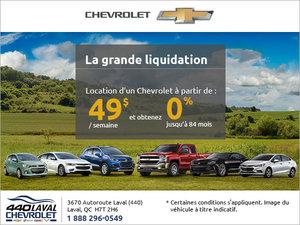 La vente mensuelle de Chevrolet!