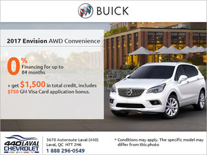 Get the 2017 Buick Envision Today!