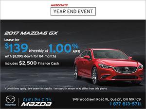 Drive Home the 2017 Mazda6 GX!