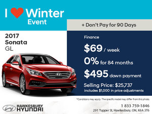 Save on the 2017 Sonata GL