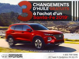 Santa-Fe 2019: 3 Changements D'huile Gratuits