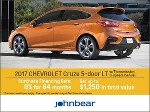 Save on the 2017 Chevrolet Cruze Hatchback!