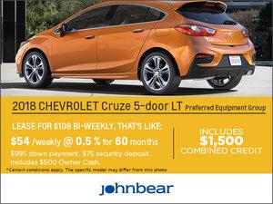 Save on the 2018 Chevrolet Cruze Hatchback!