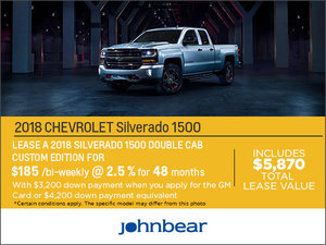 Save Big on the 2018 Silverado 1500!