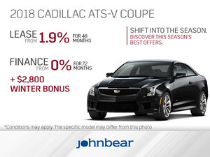 Get the 2018 Cadillac ATS-V Coupe Today!