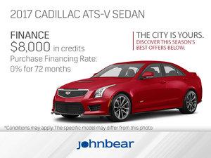 Get the 2017 Cadillac ATS-V Sedan Today!