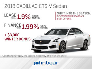 Get the 2018 Cadillac CTS-V Today!