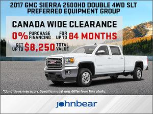 Save Big on the 2017 GMC Sierra 2500HD