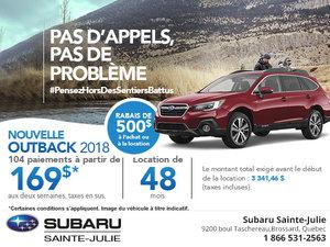 Le Subaru Outback 2018 en rabais!