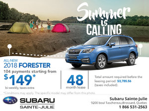 Get the All-New 2018 Subaru Forester Today!