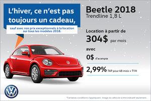 Le Beetle 2018 en rabais