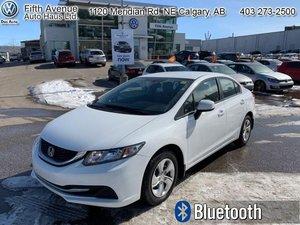 2013 Honda Civic Sedan LX  - Bluetooth -  Heated Seats - $118.74 B/W