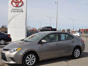2015 Toyota Corolla LE **39700KM**