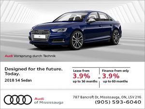 Get the New 2018 S4 Sedan today!