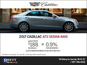 Save on the 2017 Cadillac ATS Sedan