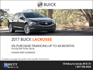 Save on the 2017 Buick LaCrosse