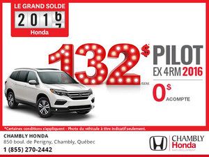Honda Pilot EX 2016 en location à 132$ par semaine