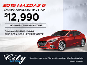 Save on the 2016 Mazda3 G at City Mazda!