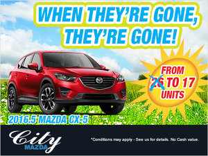 Get a 2016.5 CX-5 Before They're Gone!