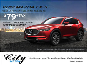 Get Your Hands on One of the Last 2017 Mazda CX-5 Vehicles!