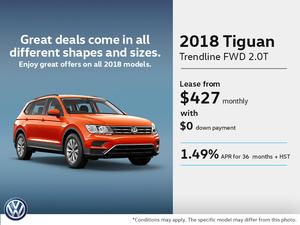 Lease the 2018 Tiguan