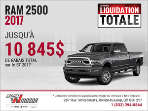 Obtenez le RAM 2500 2017