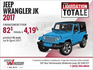 Le Jeep Wrangler 2017 à bas prix!