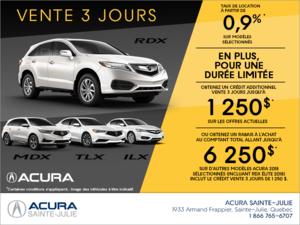 La vente 3 jours d'Acura