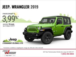 Conduisez un Jeep Wrangler 2019!