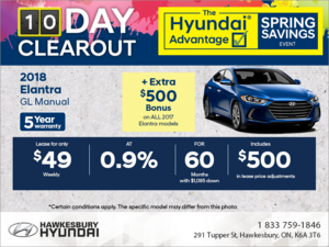 Lease the new 2018 Elantra!
