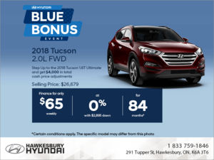 Get the 2018 Tucson today!