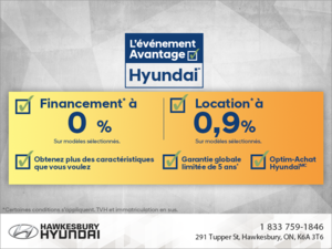 L'événement Avantage de Hyundai!