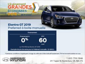 Financez l'Elantra GT 2019!