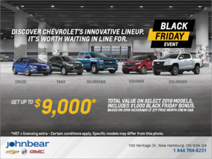 Chevrolet's Black Friday Event!
