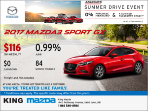 Save on the 2017 Mazda3 Sport GX!