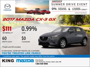 Drive Home an All-New 2017 Mazda CX-3 GX