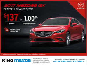 Get the 2017 Mazda6 Today!