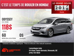 La Honda Odyssey 2018