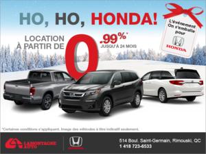 Ho, Ho, Honda!