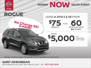 Get the 2019 Nissan Rogue Today!