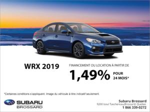 Procurez-vous la Subaru WRX 2019!