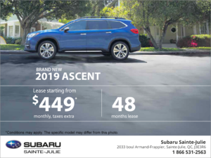 Lease the new 2019 Ascent!
